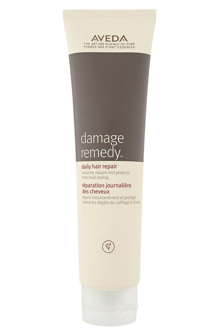 Aveda's Damage Remedy product for daily hair repair (from heat styling)