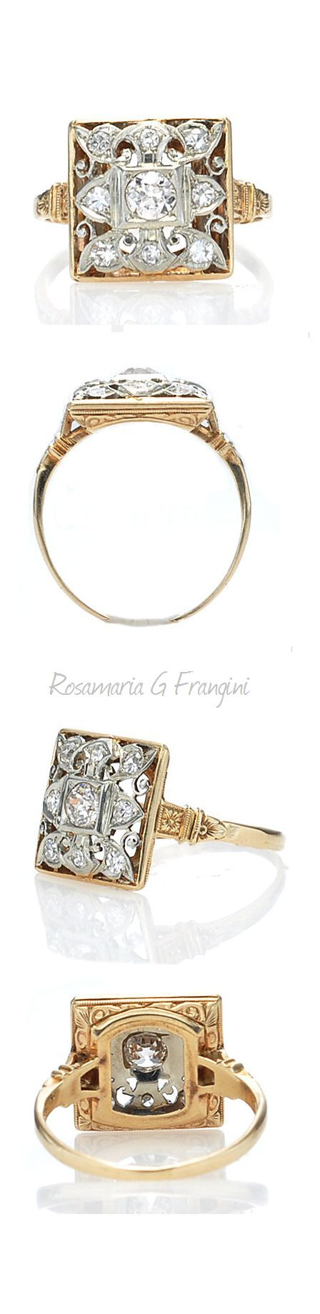 rubies.work/… 0498-sapphire-ring/ 0527-sapphire-ring/ High Jewellery Antique | TJS | Art Deco Diamond Ring