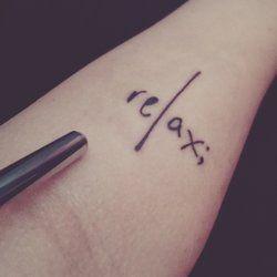 tattoo relax - Google zoeken                                                                                                                                                                                 Más