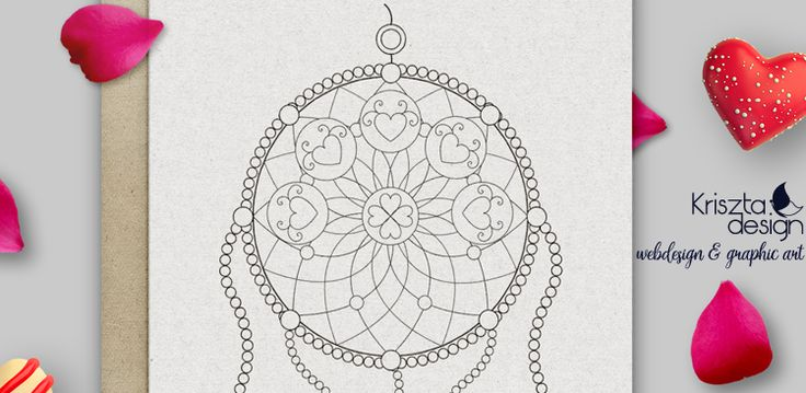 Free downloadable dreamcatcher coloring page