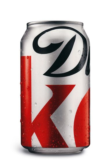"""Me likey: The Diet Coke can gets a facelift just in time for the 125th anniversary of Coca-Cola. Best comment on this blog? """"The creative brief said 'make the logo bigger.'"""" Chortle."""