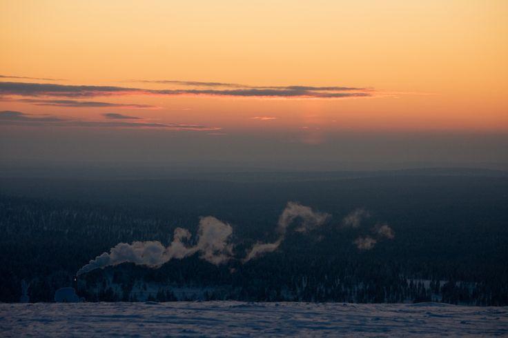 """ mökit nukkuu lumiset"" Saariselkä Finland by Aili Alaiso"