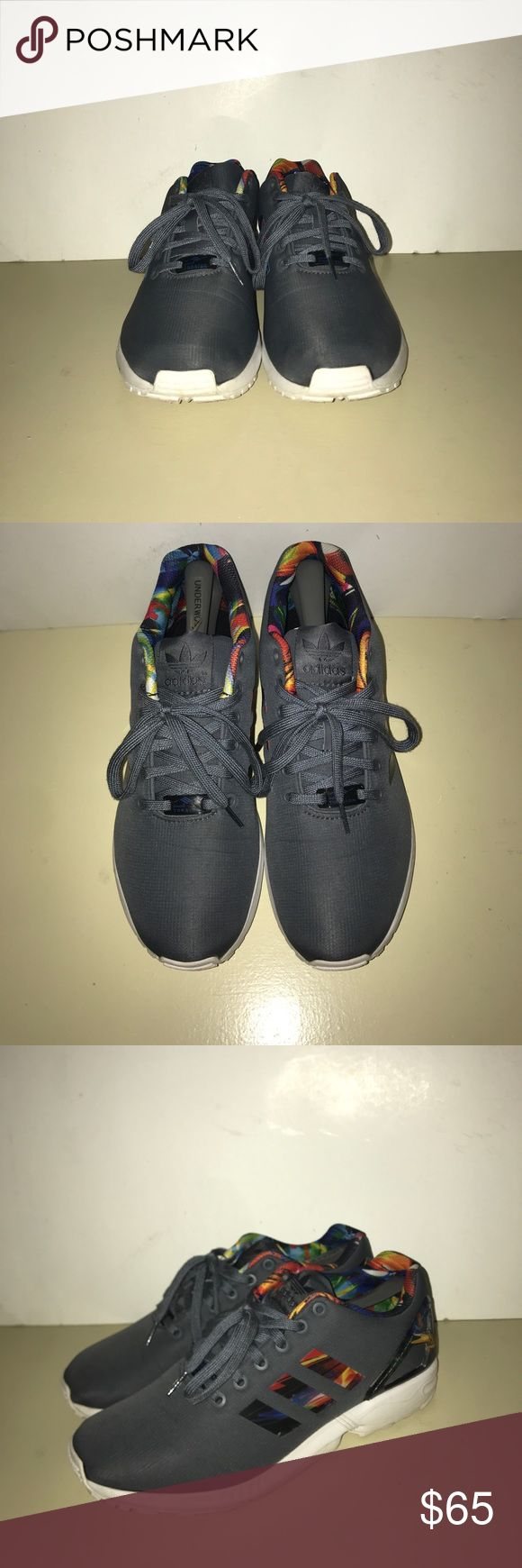 Adidas zx flux Light Onix Worn once! In perfect condition! adidas Shoes Sneakers