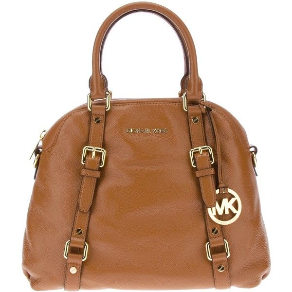 MICHAEL MICHAEL KORS luggage bowling tote ($540) ❤ liked on Polyvore