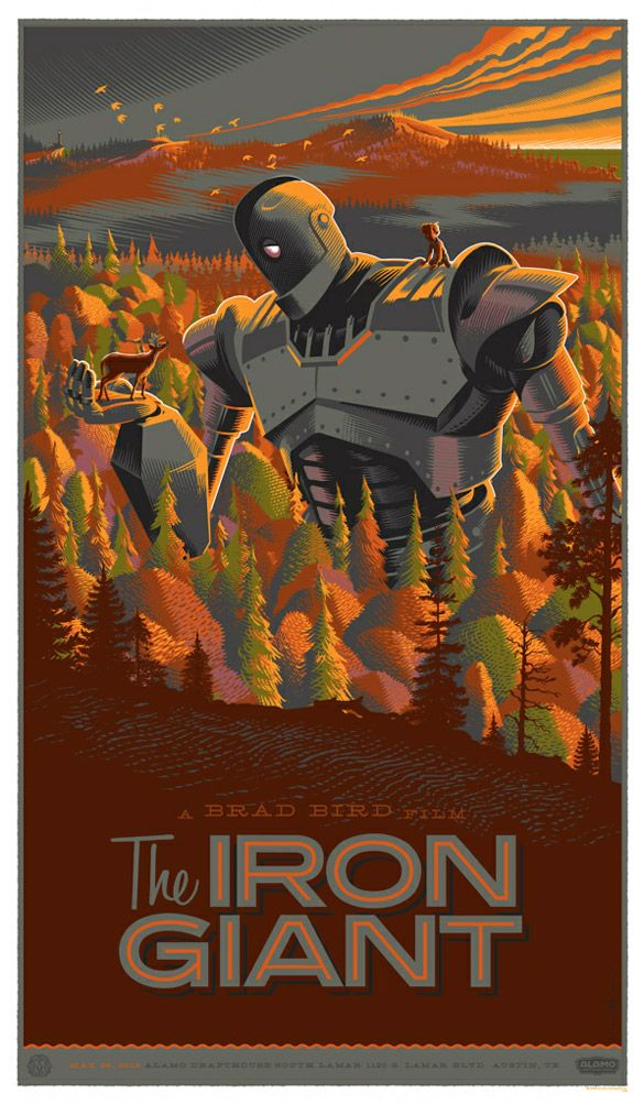 'The Iron Giant' by Laurent Durieux. illustration art film movies posters fanart