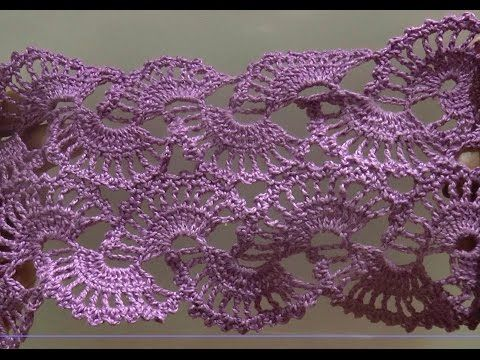 Ленточное кружево по схеме (Lace,tape lace crochet ) - YouTube