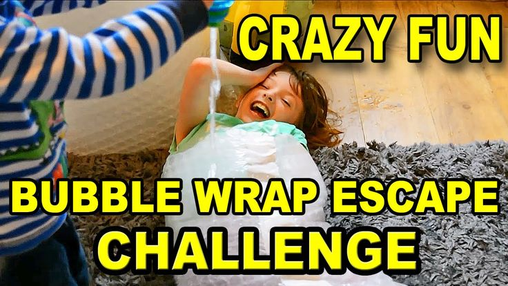 BUBBLE WRAP CHALLENGE Family Fun Games For Kids EXTREME ESCAPE WITH BOYS...