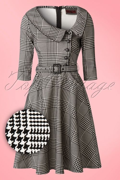 Vixen Black and White Houndstooth Dress 102 14 16313 20151111 0002WA