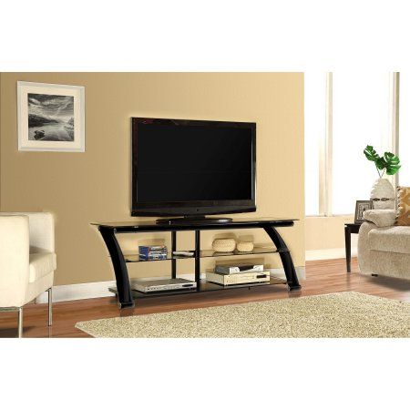Innovex Nexus Black Glass TV Stand for TVs up to 65 inch