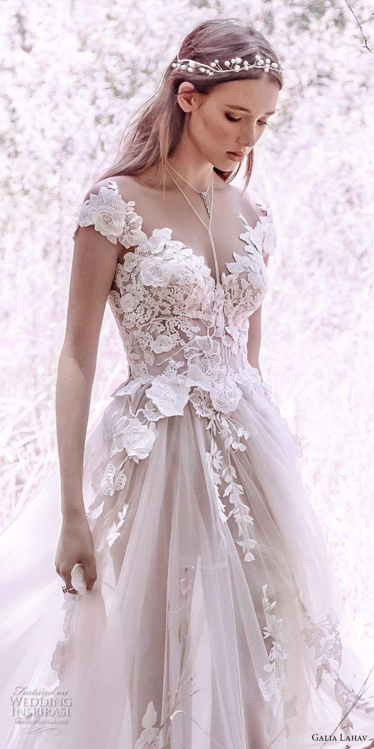 15c457a92 galia lahav gala 4 2018 bridal cap sleeves sweetheart neckline heavily  embellished bodice tulle skirt romantic