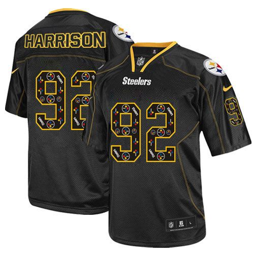 Nike Game Mens Pittsburgh Steelers #92 James Harrison New Lights Out Black NFL Jersey$79.99