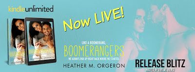 RELEASE BLITZ - Boomerangers by Heather M. Orgeron     Title: Boomerangers  Author: Heather M. Orgeron  Genre: Romantic Comedy  Release Date: April 27 2017  Blurb  Boomerangers [boo-muh-rang-ers] noun informal: an adult that moves back home to live with a parent after a period of independence. Spencer I love sex. I love the power the intimacy the euphoria it brings. Too bad Im not having any . . . Youd think as New Orleans most renowned sex therapist that Id be swimming in single men. In a…