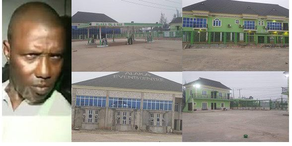 PHOTOS: Lagos seals off suspected Badoo kingpin's Filling Station, Hotel, Event Centre