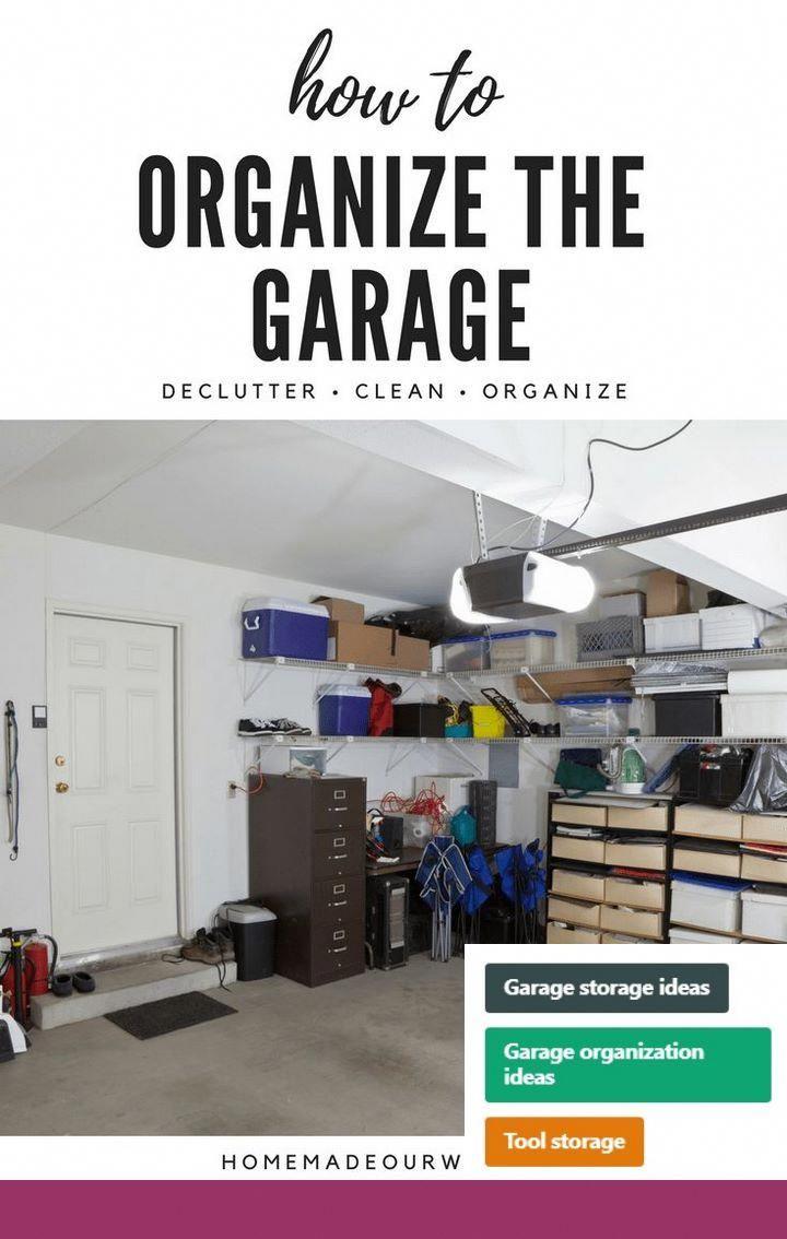 garage storage solutions organizing ideas and garage bike rack rh pinterest com