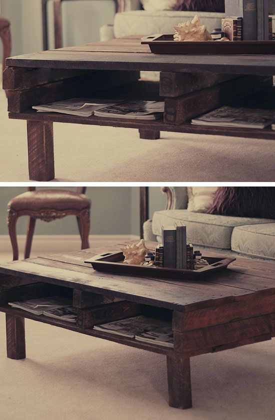 DIY Rustic Pallet Coffee Table | 27 DIY Rustic Decor Ideas for the Home | DIY Rustic Home Decorating on a Budget