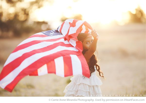 4th of July Photography Inspiration! Portrait Photography by Carrie Anne Miranda.