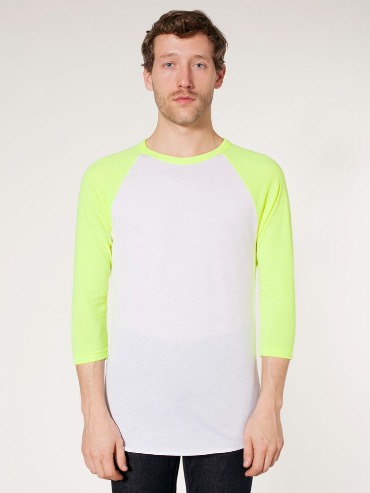 Neon Poly Cotton 3 4 Sleeve Raglan Shirt My Style