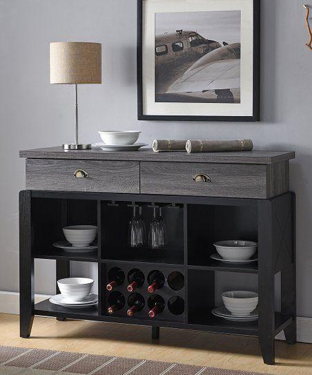serendipity gray black contemporary dining buffet cabinet zulily rh pinterest com