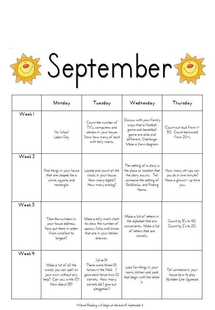 7 best first grade homework images on pinterest chore calendar september homework fandeluxe Gallery