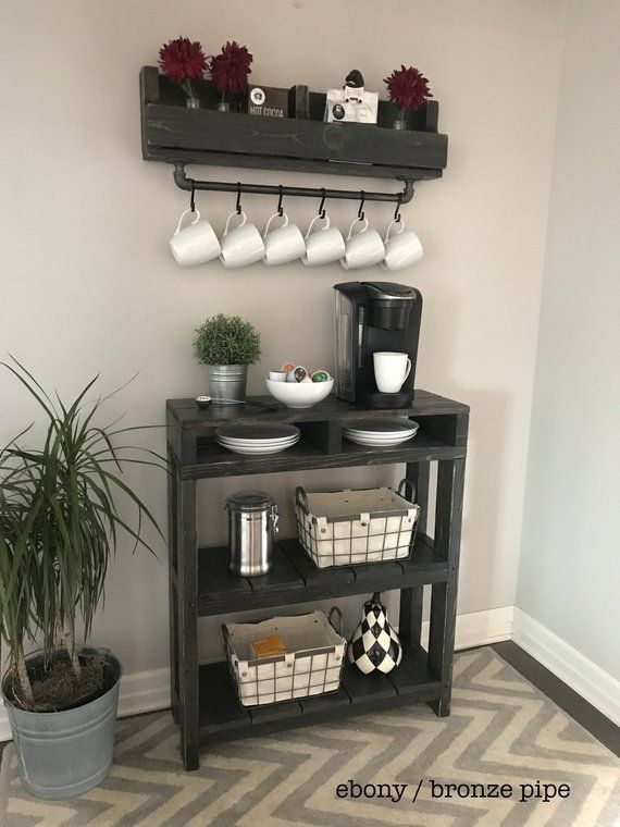 Coffee Bar Table With Storage 3