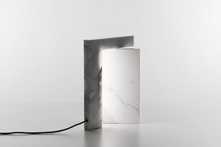 precaria marble LED lamp by brian sironi