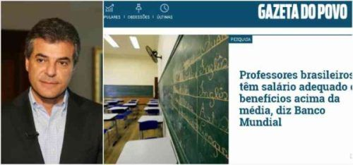 Velha mídia defende que professores ganham bem no país; querem...