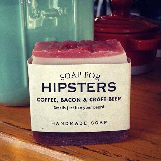 Deze zeep, die hetzelfde ruikt als de baard van een gemiddelde hipster
