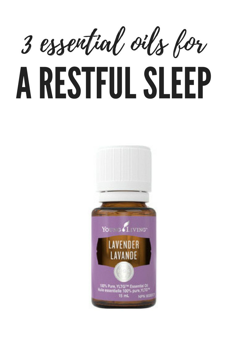 3 essential oils for a restful sleep