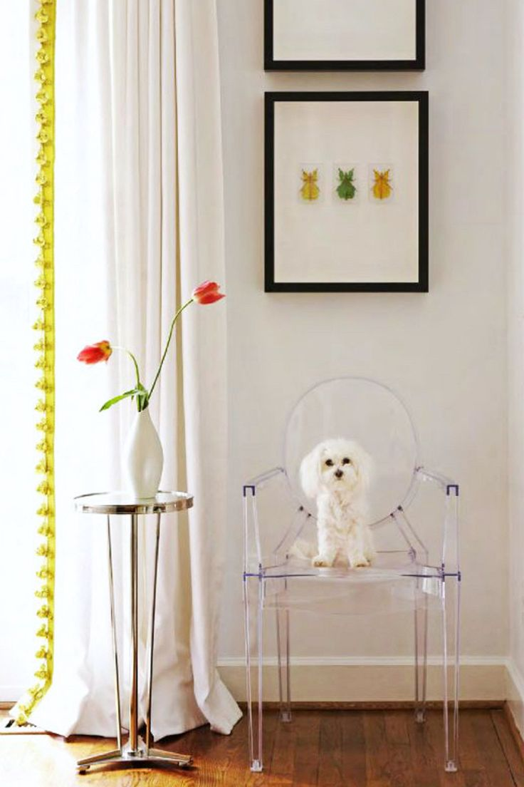 Bright pompom tassle trim on a plain curtain || A pop of something unexpected – FIRST SENSE