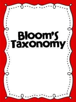 What better way to engage learners in higher level questioning than to use Bloom's Taxonomy. These colorful posters can be printed and used in a small group setting or would look great blown up into poster size!  Free on tpt
