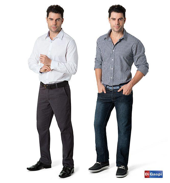 Vai se sapato ou sapatênis?   camisa branca - calça sarja - cinto masculino - sapatênis - camisa xadrez - calça jeans - sapato social  