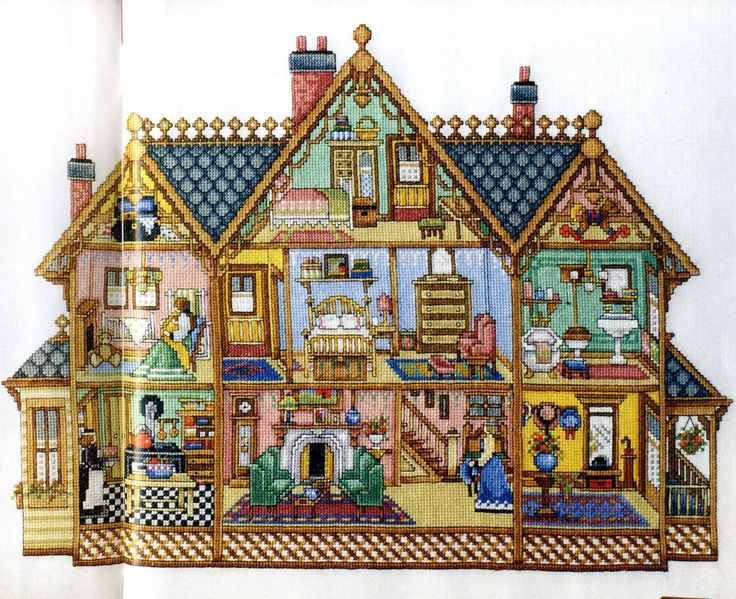 2 story dollhouse pic