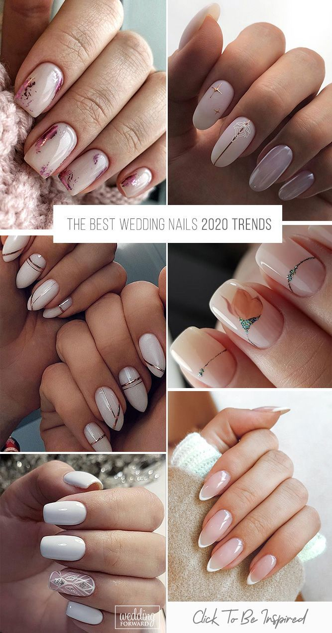 The Best Wedding Nails 2020 2021 Trends Wedding Forward In 2020 Classy Nail Art Ideas Wedding Nails Nails