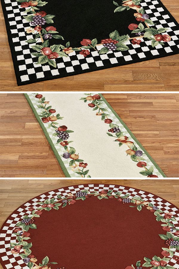 Abundant Fruit And A Check Pattern Make The Sonoma Fruit Rugs A