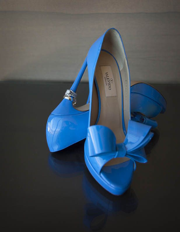 Loving these Valentino heels! Why not splurge on your something blue?