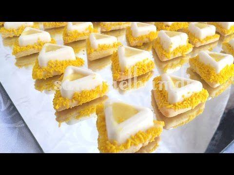 مثلتات بنكهة الليمون والشوكولاتهsablé choco-citron - YouTube