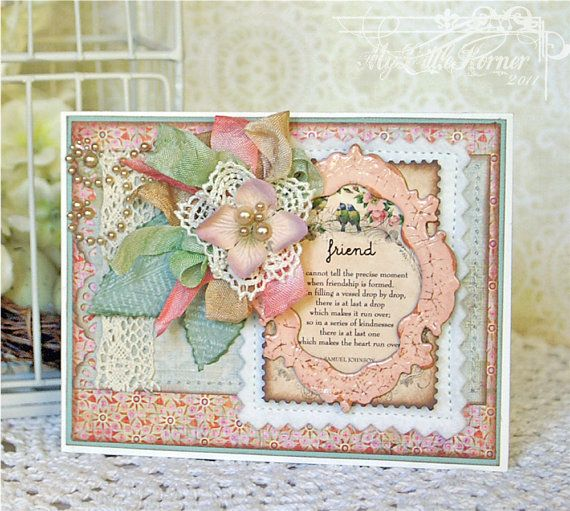 Friendship Poem Handmade Thinking of You or by MyLittleKorner
