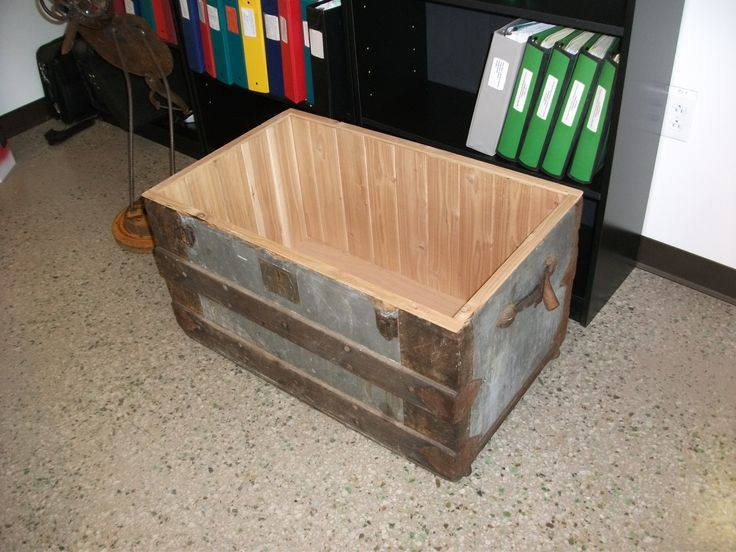 1st place: Cedar chest coffee ottoman (picture without cushioned lid). Entry submitted by Blair Brown
