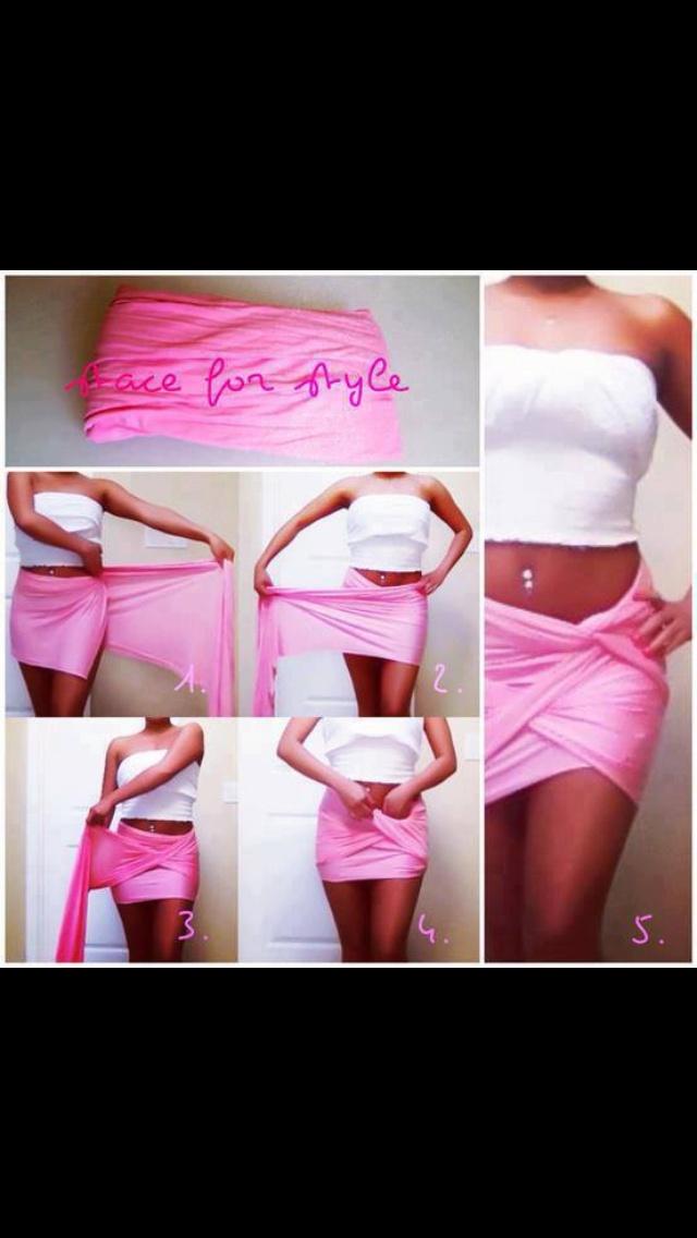 DIY wrap-around skirt