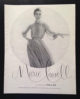 1955-Marie-Leavell-Dallas-Suzy-Parker-turban-fashion-photo-vintage-print-ad