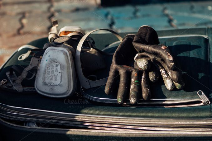 Mask and Gloves by Hombre-cz on Creative Market
