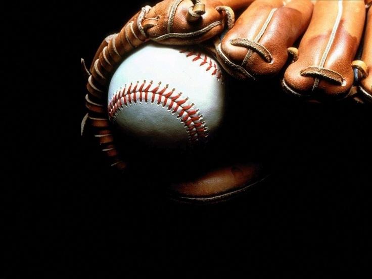 wallpaper luva e bola de baseball, backgrounds luva e bola de baseball