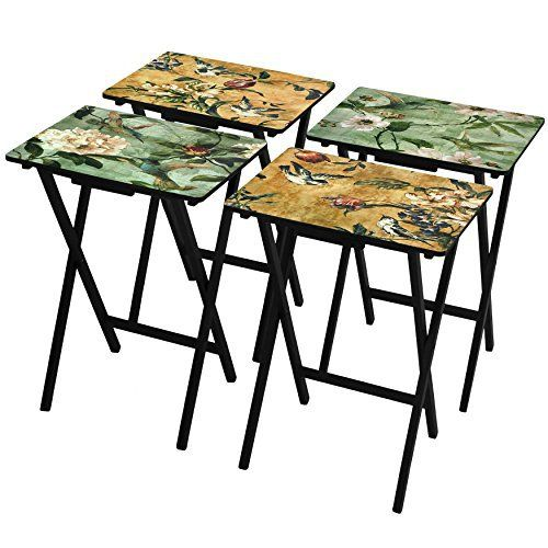 Our birds and flowers TV tray set will go perfectly in your home or office, anywhere that you could use some portable foldable table space. Traditionally used for meals, they are equally great for work or play. All fours tray feature different scenes. FB Local Hub - Create pro bussiness hub... more details available at https://furniture.bestselleroutlets.com/game-recreation-room-furniture/tv-trays/product-review-for-oriental-furniture-birds-and-flowers-tv-tray-set-with-stand/
