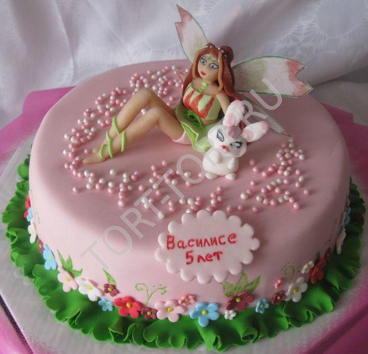 Детский торт фея динь-динь