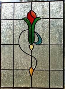 New Leaded Art Deco Stained Glass Panel   stained glass designs