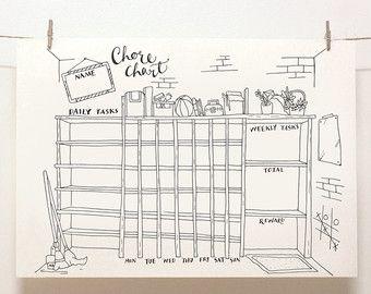 DOODLE Perpetual Weekly Planner / Organizer: Blimp by SkyGoodies