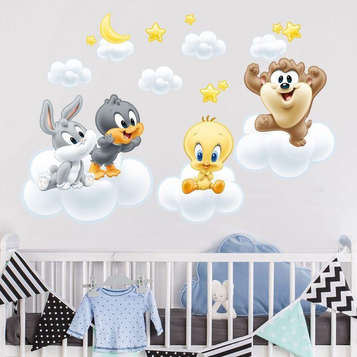 Bilderwelten Wandtattoo Baby Looney Tunes Auf Wolken Silviana