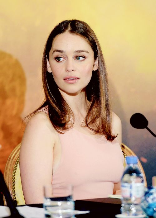 Emilia Clarke attends the France Press Junket of 'Terminator Genisys' at the Hotel Four Season Georges V on June 19, 2015 in Paris, France