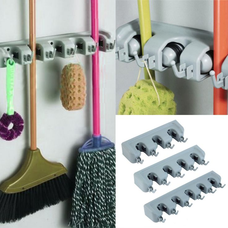Popular Kitchen Wall Mounted Hanger Storage Rack 3-5 Position Kitchen Mop Brush Broom Organizer Holder Tool #>=#>=#>=#>=#> Click on the pin to check out discount price, color, size, shipping, etc. Save and like it!