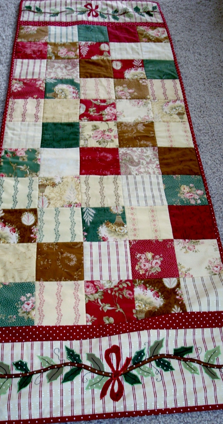 Christmas bed runner